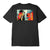 t-shirt obey FAN THE FLAMES CLASSIC TEE BLACK