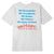 t-shirt obey LOVE IS THE CURE ORGANIC SUPERIOR TEE WHITE