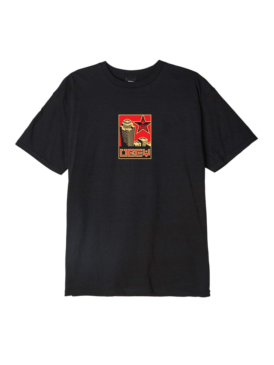 obey t-shirt,Obey Building 30 Years Basic Tee Black, image 1