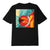 t-shirt obey FAN THE FLAMES CANVAS SUSTAINABLE TEE BLACK