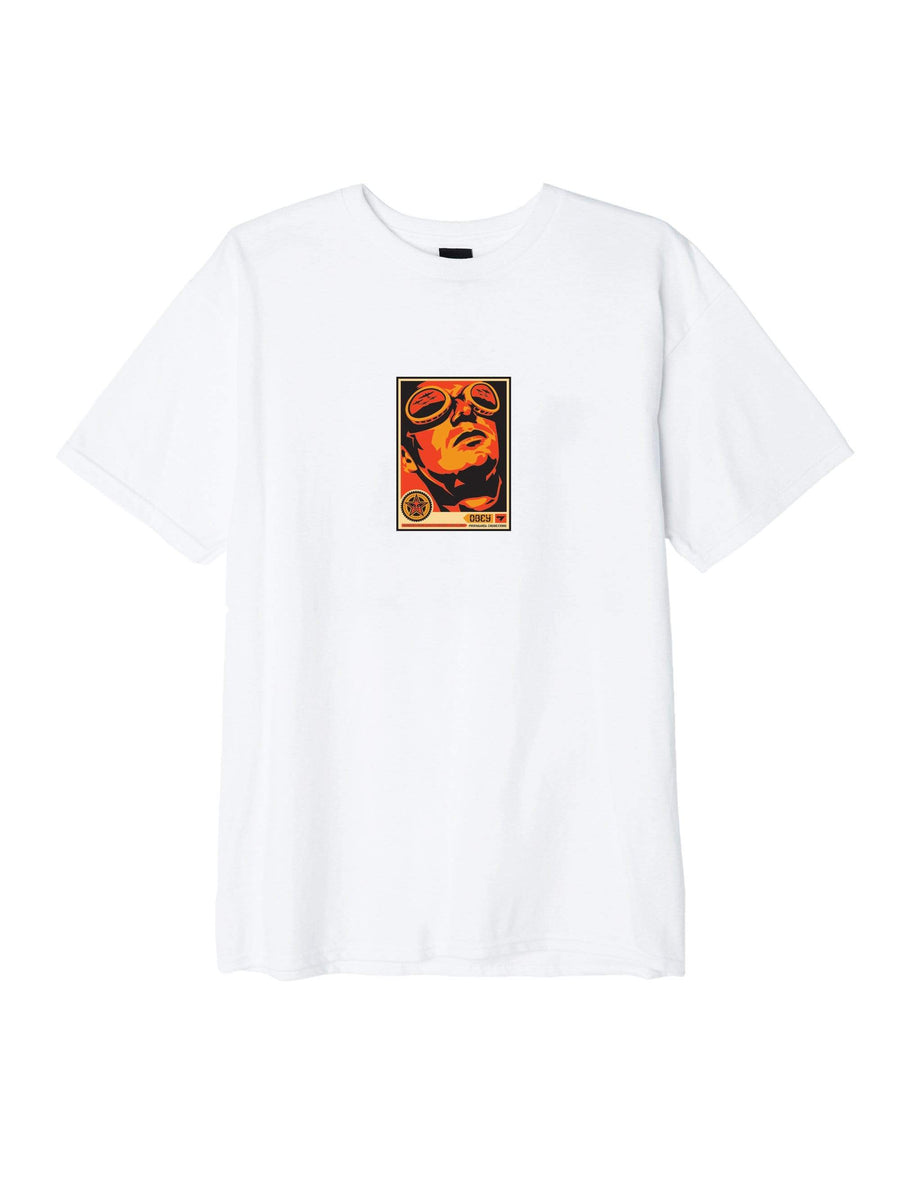 obey t-shirt,Obey Goggles 30 Years Basic Tee White, image 1