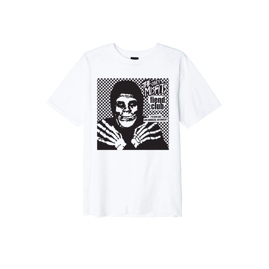 obey t-shirt,Obey Misfits Fiend Club Halloween Basic Tee White, image 1