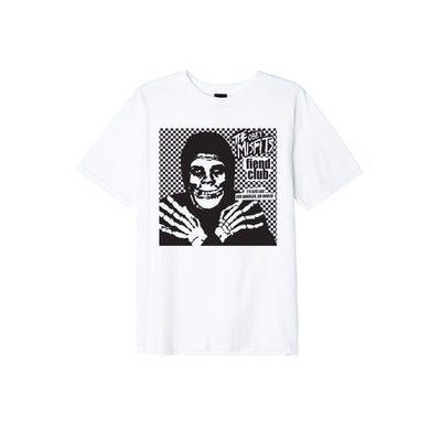 t-shirt obey OBEY MISFITS FIEND CLUB HALLOWEEN BASIC TEE WHITE