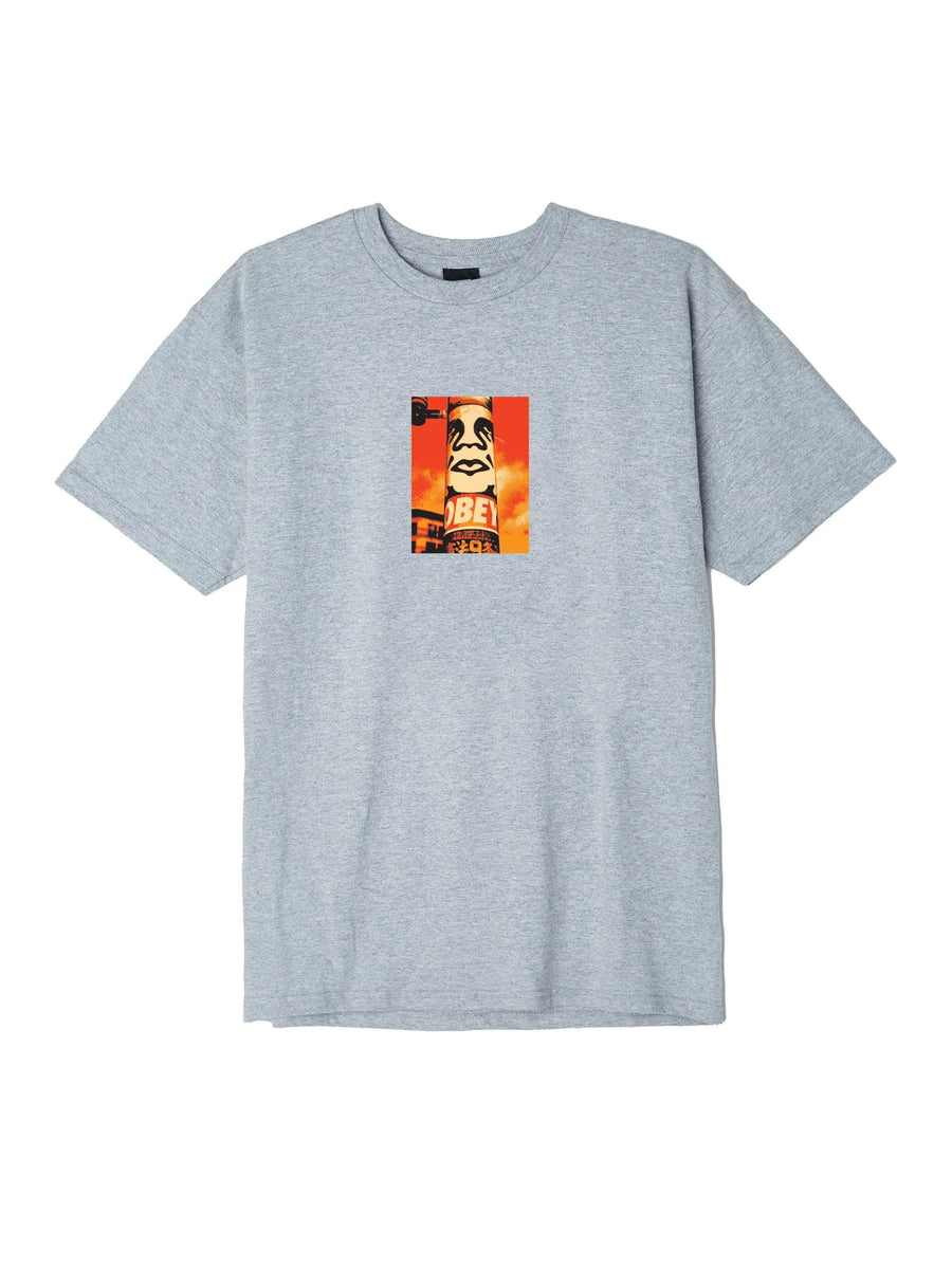 obey t-shirt,Obey Pole 30 Years Basic Tee Heather Grey, image 1