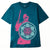 t-shirt obey OBEY RIOT COP PEACE SHIELD SUSTAINABLE TEE SHADED SPRUCE