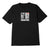 t-shirt obey THE MEDIUM IS THE MESSAGE SUSTAINABLE TEE BLACK
