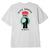 t-shirt obey RISE ABOVE FLOWER FIST SHEPARD - CLASSIC TEE WHITE