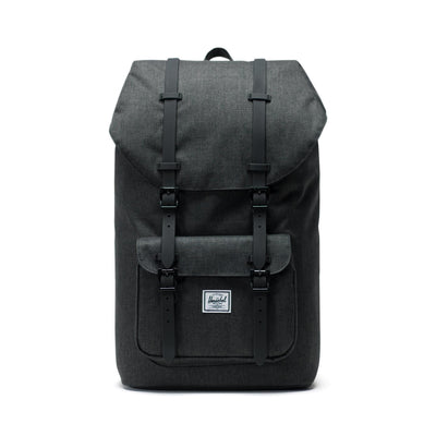 zaini herschel HERSCHEL LITTLE AMERICA BLACK CROSSHATCH/BLACK RUBBER