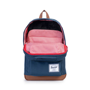 herschel Pop Quiz Navy/Tan Synthetic Leather foto 2