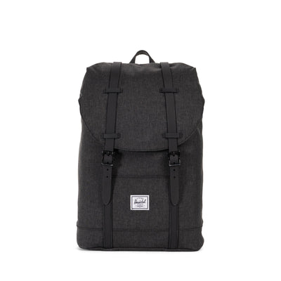 zaini herschel RETREAT MID-VOLUME BLACK CROSSHATCH/BLACK RUBBER