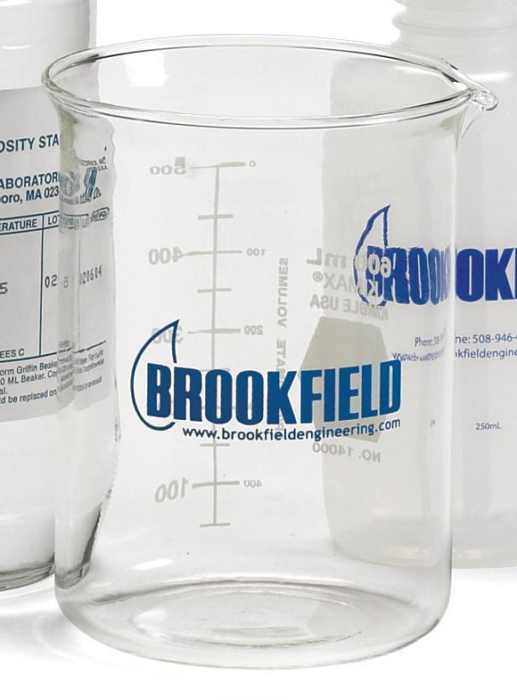 600mL Beaker with Brookfield Logo