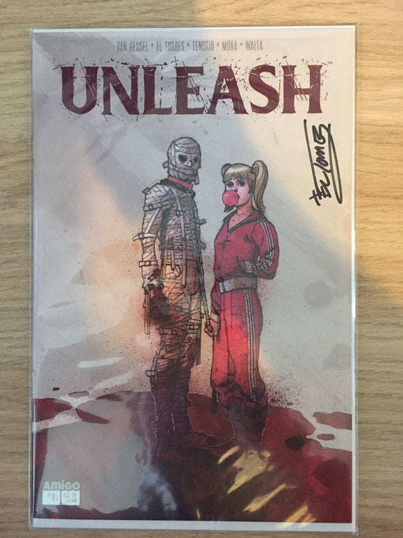 Unleash #1 Signed by El Torres with COA