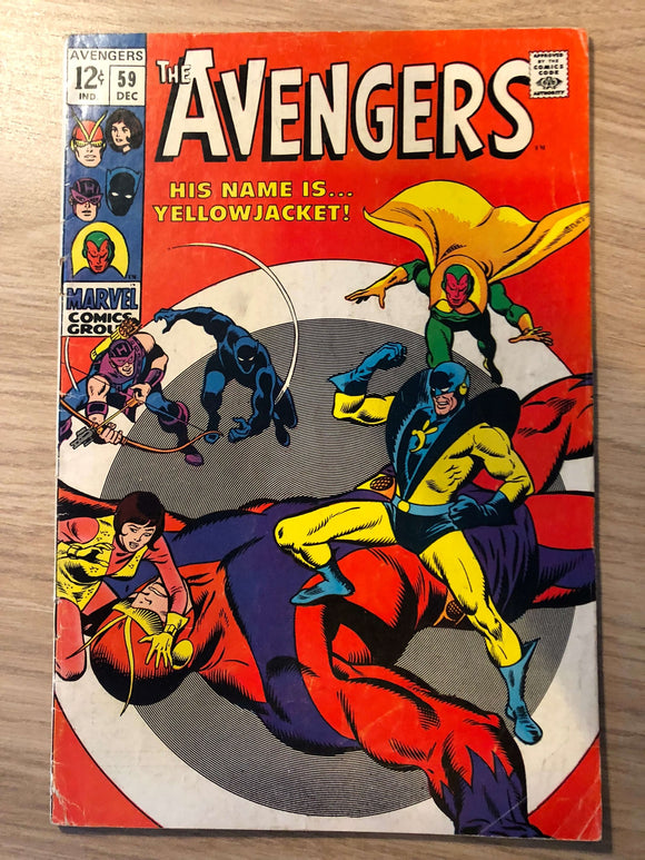 The Avengers #59 1968 First appearance of Yellow Jacket