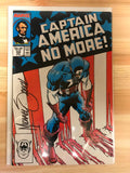 Captain America #332 'No More!' Signed Mike Zeck. COA.