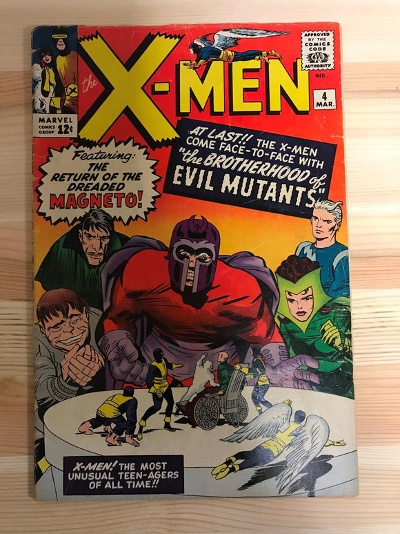 X-Men #4 First Quicksilver, Scarlet Witch, Toad, Mastermind and Evil Mutants