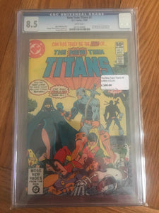 The New Teen Titans #2 First Deathstroke CGC 8.5