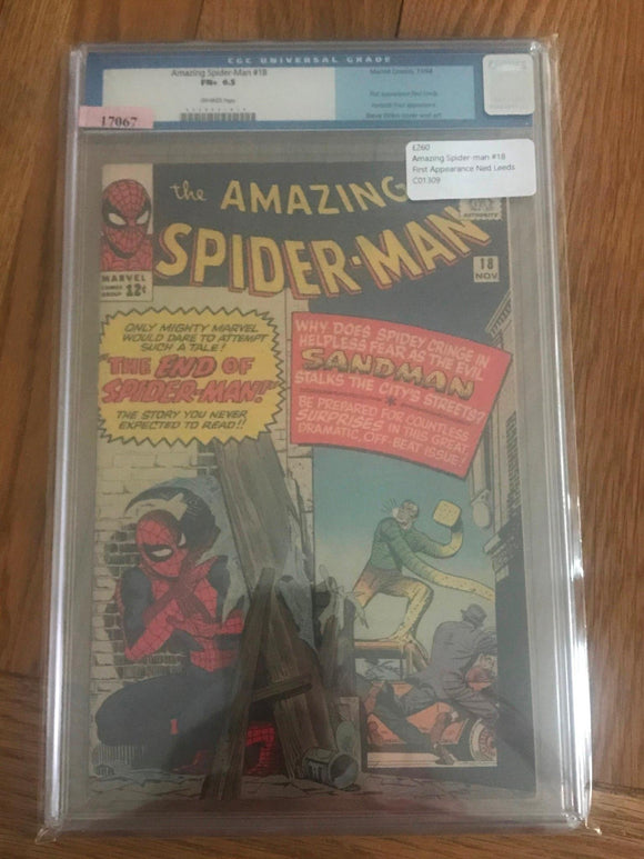 Amazing Spider-man #18 First Appearance Ned Leeds CGC 6.5