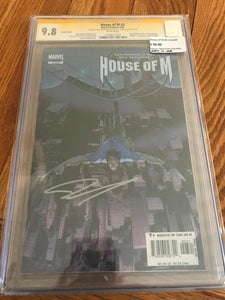 House of M #3 Variant. Signed by John Cassaday CGC Signature Series 9.8