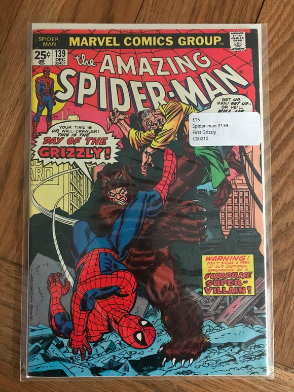 Amazing Spider-man #139 First Grizzly