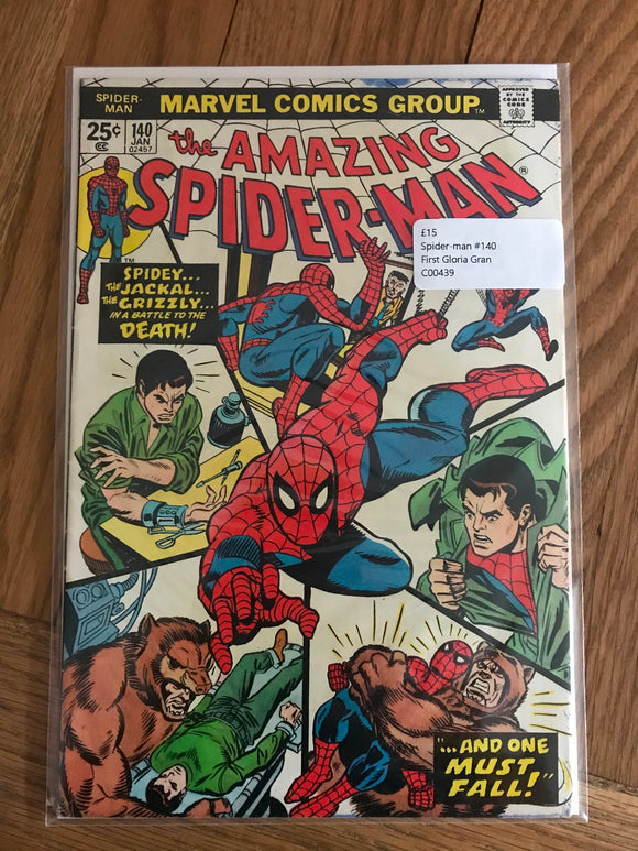 Amazing Spider-man #140 First Gloria Gran