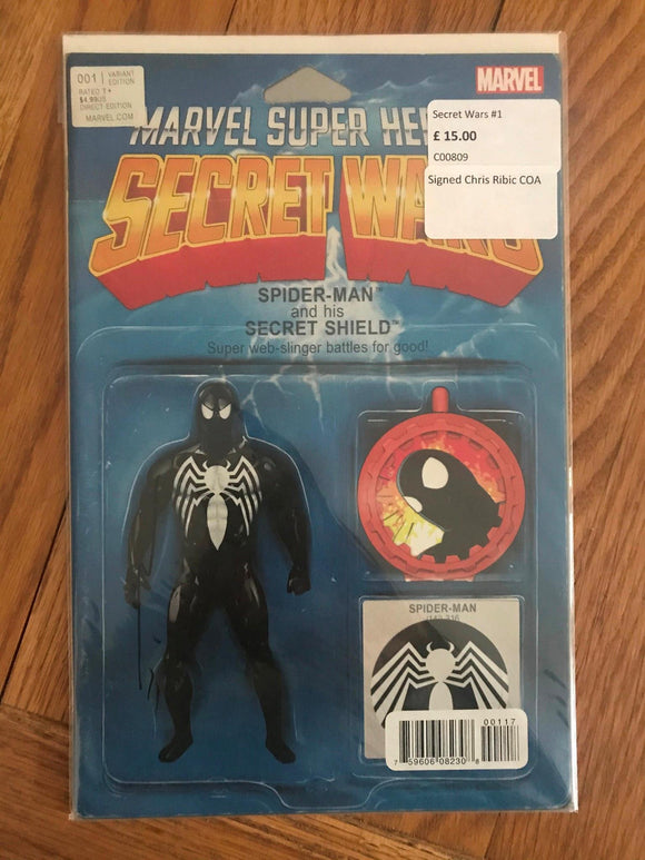 Secret Wars #1 Signed Chris Ribic COA