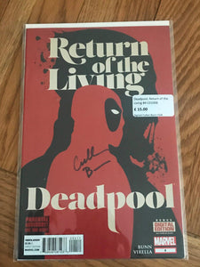 Deadpool, Return of the Living #4 Signed Cullen Bunn COA