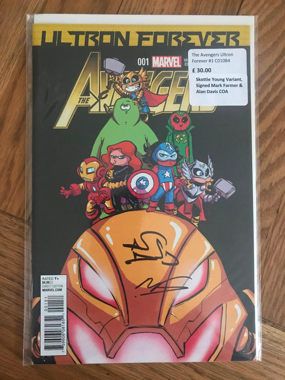 The Avengers Ultron Forever #1 Skottie Young Variant, Signed COA