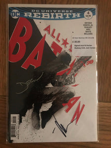 All Star Batman #4 Signed Jock & Declan Shalvey COA Jock Variant