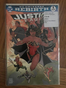 Justice League (DC Universe Rebirth) #1 Signed Terry Dobson COA