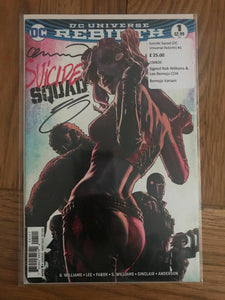 Suicide Squad (DC Universe Rebirth) #1 Signed Rob Williams & Lee Bemejo COA