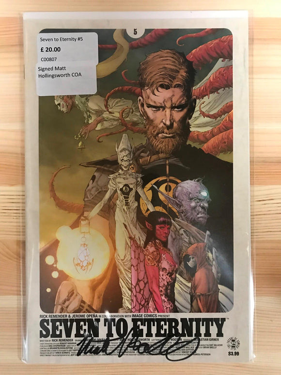 Seven to Eternity #5 Signed Matt Hollingsworth COA