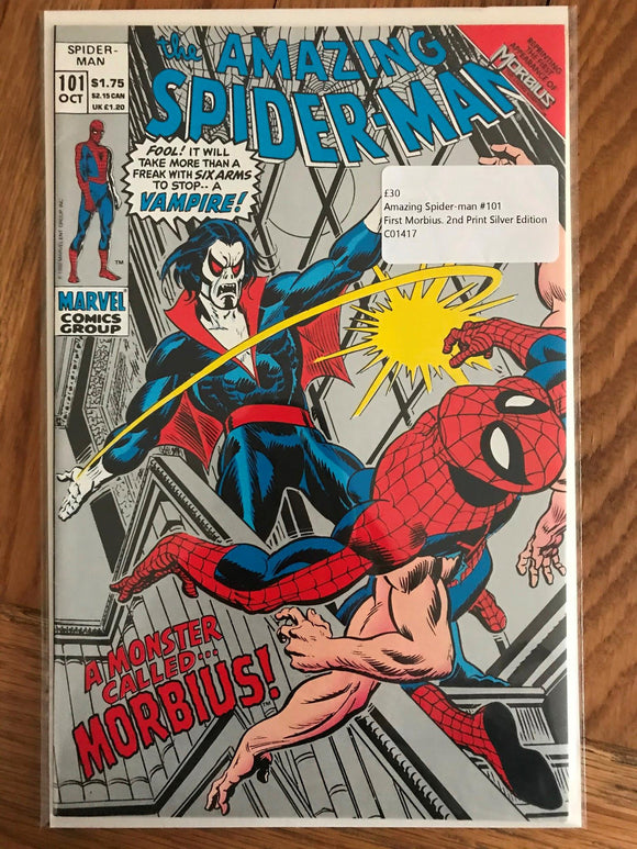 Amazing Spider-man #101 First Morbius. 2nd Print Silver Edition