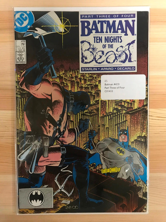 Batman #419 Ten Nights of the Beast Part Three of Four