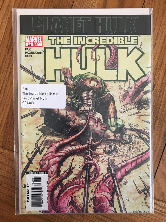The Incredible Hulk #92 First Planet Hulk