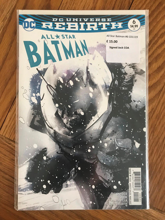 All Star Batman #6 Signed Jock COA