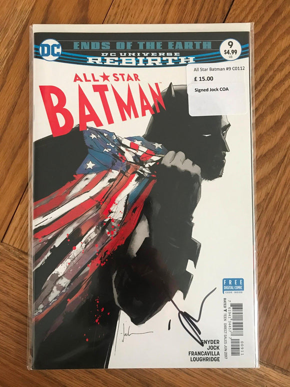 All Star Batman #9 Signed Jock COA