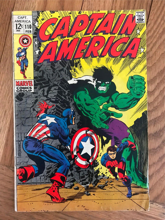 Captain America #110 Rick Jones dons the Bucky Costume; First Madame Hydra