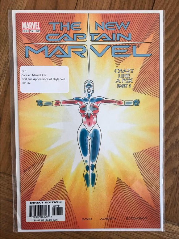 Captain Marvel #17 First Full Appearance of Phyla-Vell