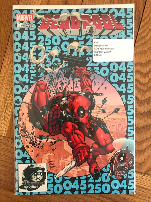 Deadpool #45 ASM #300 Homage. Phantom Variant