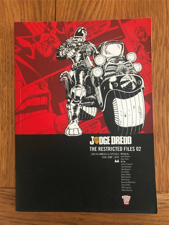 2000AD Judge Dredd The Restricted Files 02 Graphic Novel