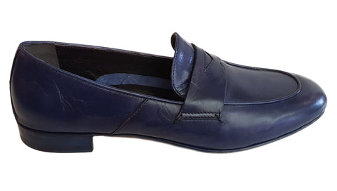 Mara Bini, Loafer in Blau mit Lasche