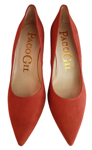 Paco Gil, Wildleder-Pumps in Terracotta
