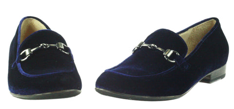 La Bottega di Lisa, blauer Loafer aus Samt