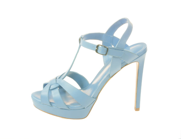 Lola Cruz, Sandalette , Highheel in light-blue mit Plateau