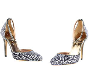 Mascaro, Highheel mit Pailetten in anthrazit/silbermetallic