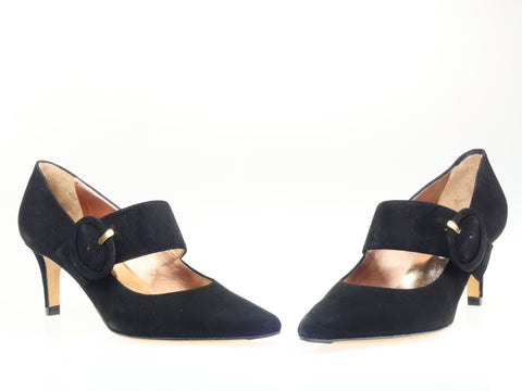 Mascaro, Wildleder-Pumps in schwarz
