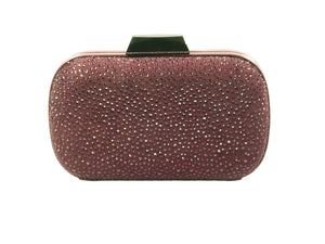 Lola Cruz, Clutch in bordeaux mit bordeauxroten Strasssteinen