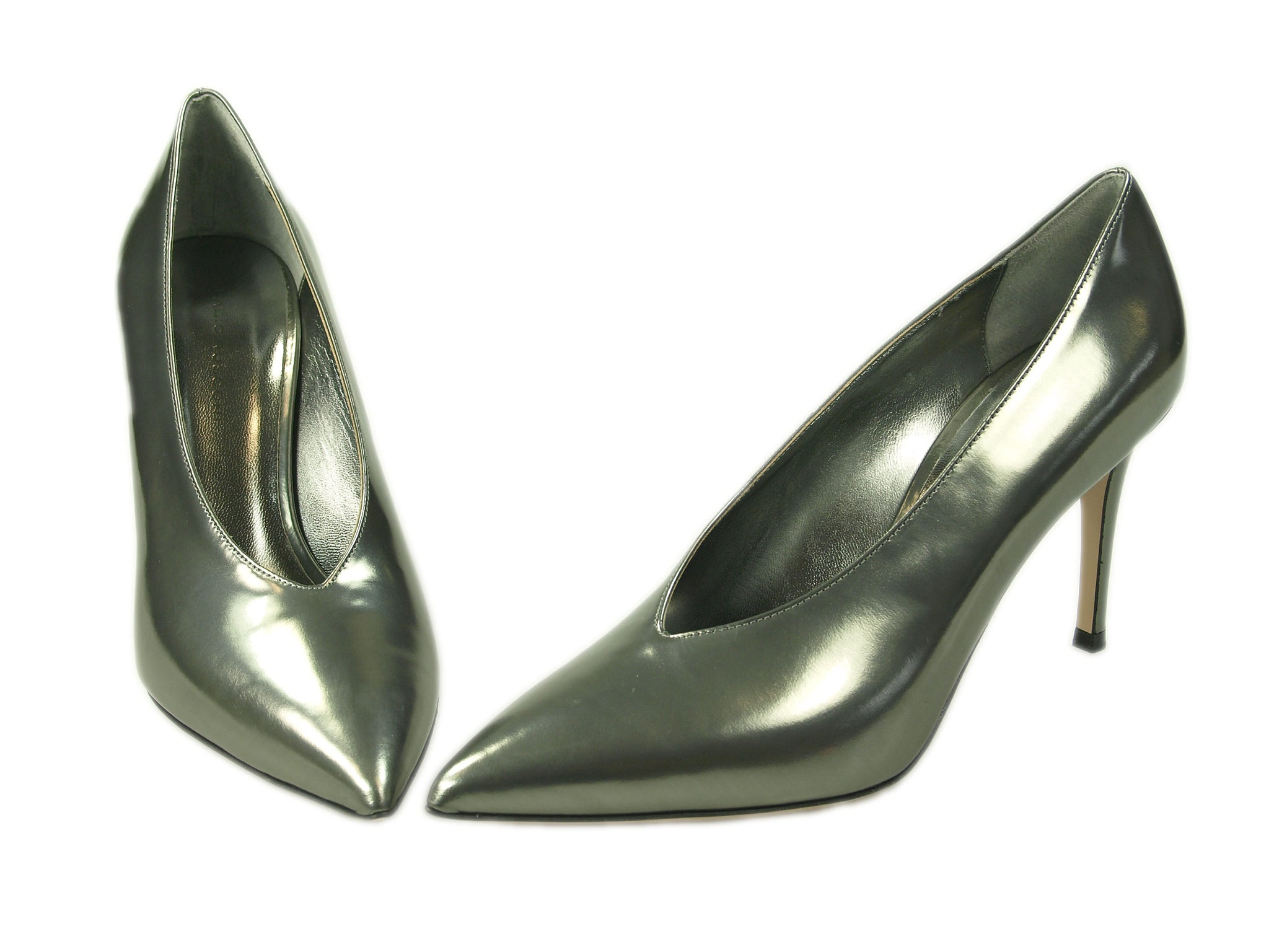 MetallicPumps in anthrazit , V-Neck Fabio Rusconi