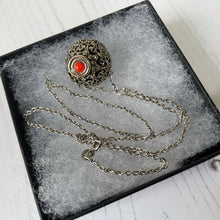 Load image into Gallery viewer, Victorian Silver Miniature Scent Bottle Pendant