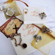 Cargar imagen en el visor de la galería, Antique Double Albert Sterling Silver Pocket Watch Chain & Fob. - MercyMadge